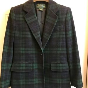 Ralph Lauren plaid jacket/ blazer